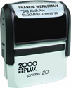 "Printer 20 - P20 Self-Inking CUSTOM Stamp. Ink pad provides thousands of impressions! Easy to re-ink. Add your signature, logo or any drawing with text. Simple and dependable! Impression area 9/16""x1-1/2"". COSCO 2000 plus."