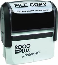 printer 40 p40 self inking custom stamp ink pad provides