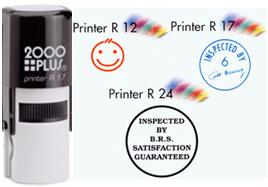 Cosco 2000 Plus Printer R17 Custom Round Text R17 Logo Self Ink Stamp