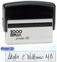 """Printer 25 - P25 Self-Inking CUSTOM Stamp. Ink pad provides thousands of impressions! Easy to re-ink. Add your signature, logo or any drawing with text. Simple and dependable! Impression area 5/8""""x3"""". COSCO 2000 plus."""