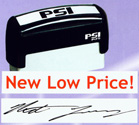 """PSI-1479  PSI Self-Inkers require no pad. Lasts 3-5 times longer than others. Oil base ink. Smooth and quiet operation. Available in 5 ink colors.  Ready in as little as 2 hours! Area: 9/16""""x3-1/8""""."""