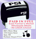 """PSI-1854  PSI Self-Inkers require no pad. Lasts 3-5 times longer than others. Oil base ink. Smooth and quiet operation. Available in 5 ink colors.  Ready in as little as 2 hours! Area: 11/16""""x2-1/8""""."""