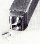 STEEL STAMPS. Custom made for hand or machine use. Comes in solid, dotted or bold face letters. Quoted to your specs.